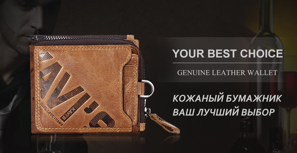HTB1lcDmmfNNTKJjSspfq6zXIFXaY - KAVIS Crazy Horse Genuine Leather Wallet Men Coin Purse Male Cuzdan Walet Portomonee PORTFOLIO  Perse Small Pocket money bag