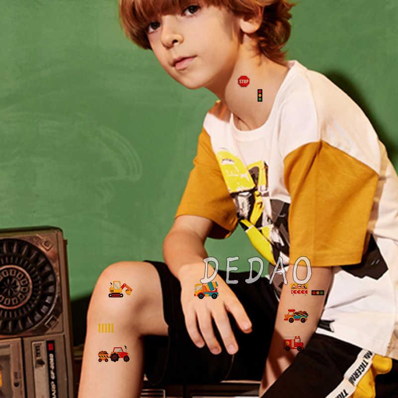 Trẻ Em Tạm Thời Tatoo Giả Miếng Dán Hình Xăm Thoáng Mát Hoạt Hình Quạt Hình Xăm Tatouage Tay Chân Tatto Quà Tặng Sinh Nhật Cho Trẻ Em Bé Trai