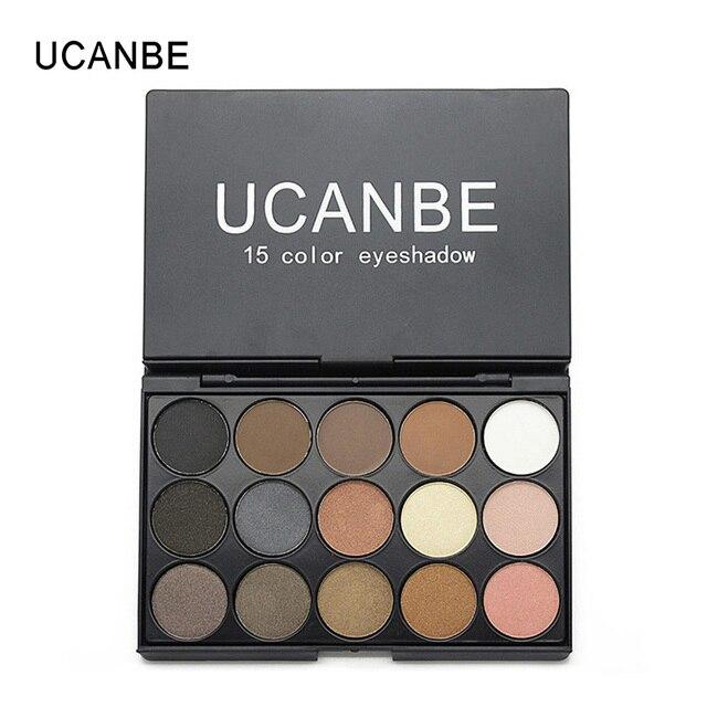 Nuevas Llegadas UCANBE Cosméticos 15 Colores Mate Nude Paleta Sombra de Ojos Maquillaje 2016 Sombra de Ojos Shimmer Estrenar