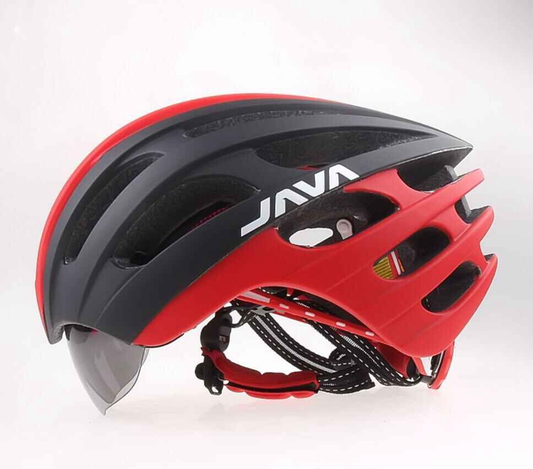 JAVA MTB Road Bike Helmet With Goggles Eyewear Integrally Molded ESP + PC L 57-62cm Aero Bicycle Helmets& Glasses topeak outdoor sports cycling photochromic sun glasses bicycle sunglasses mtb nxt lenses glasses eyewear goggles 3 colors
