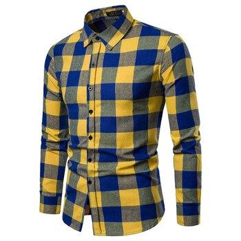 Ανδρικό μακρυμάνικο καρό πουκάμισο