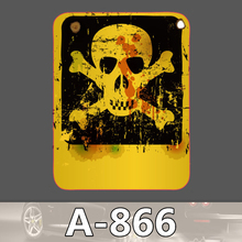 A 866 Skull Banner Waterproof Fashion Cool DIY Stickers For Laptop font b Luggage b font