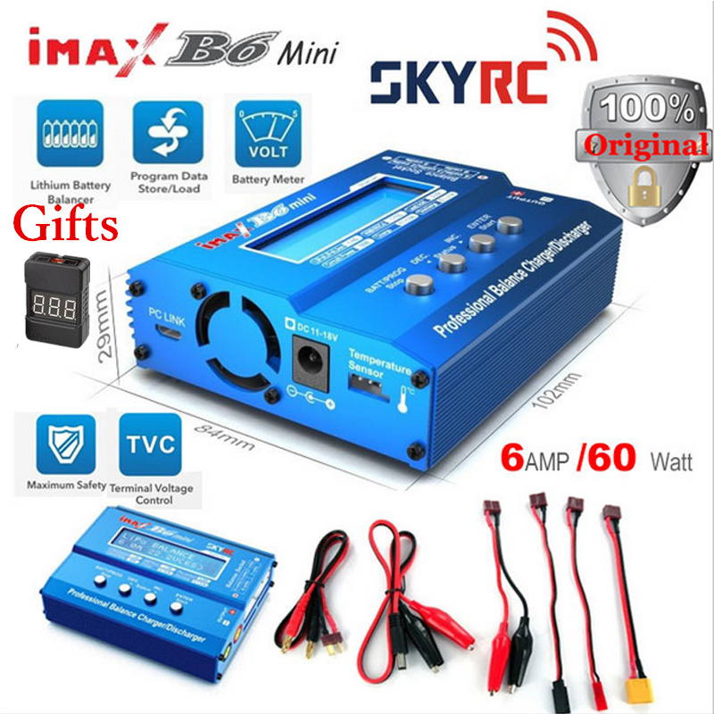 Original SKYRC Imax B6 60W Mini Professional Balance Charger Discharger For Helicopter Toys Quadcopter Battery Charging RC parts original skyrc imax b6 mini professional balance charger discharger for rc battery charging sk 100084