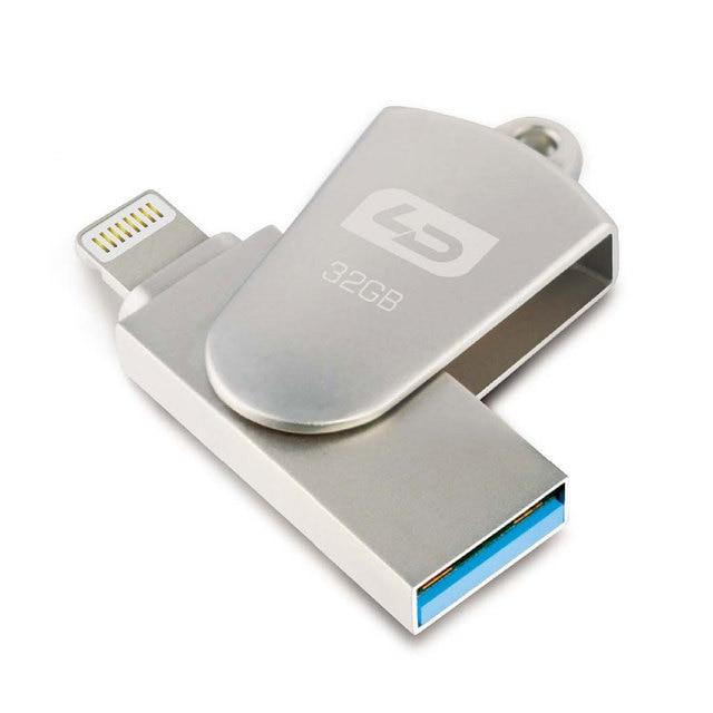 LD Flashdrive 16GB 32GB 64GB Micro Usb Pen Drive Lightning/Otg Usb Flash Drive For iPhone 5/5s/5c/6/6 Plus/ipad Memory Stick