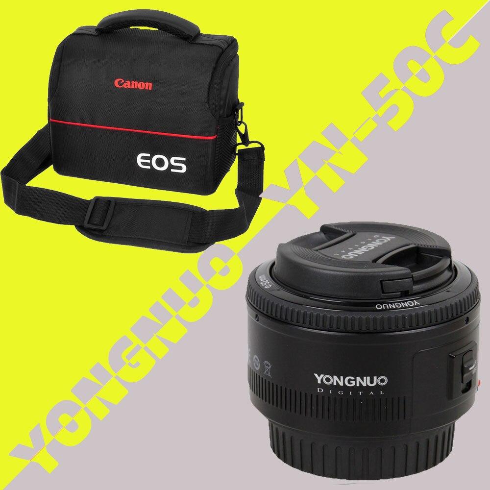 Objectif YONGNUO YN50mm f1.8 YN EF 50mm f/1.8 objectif AF YN50 objectif de mise au point automatique d'ouverture pour Canon EOS 60D 70D 5D2 5D3 600d appareils photo reflex numériques