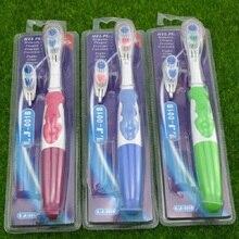 Escova de dentes elétrica para cuidado profissional, 2 cabeças, escova de giro, higiene bucal