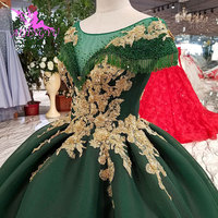 AIJINGYU Luxury Wedding Dresses Weeding Gowns 2018 Simple Bridal Long Sleeve Lace Tulle Gown With Corset 3D Wedding Dress