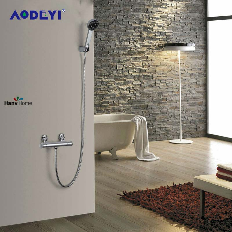 AODEYI G1/2 Brass Thermostatic Mixing Valve Adjust The Mixing Water Temperature Thermostatic Mixer For Shower Head Set Tool