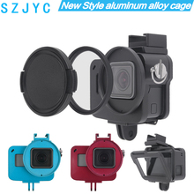 цена на Aluminum Hero 5 6 7 case Alloy cage Protective Housing Case Cover Metal frame UV filter for GoPro Go Pro hero Camera Accessories
