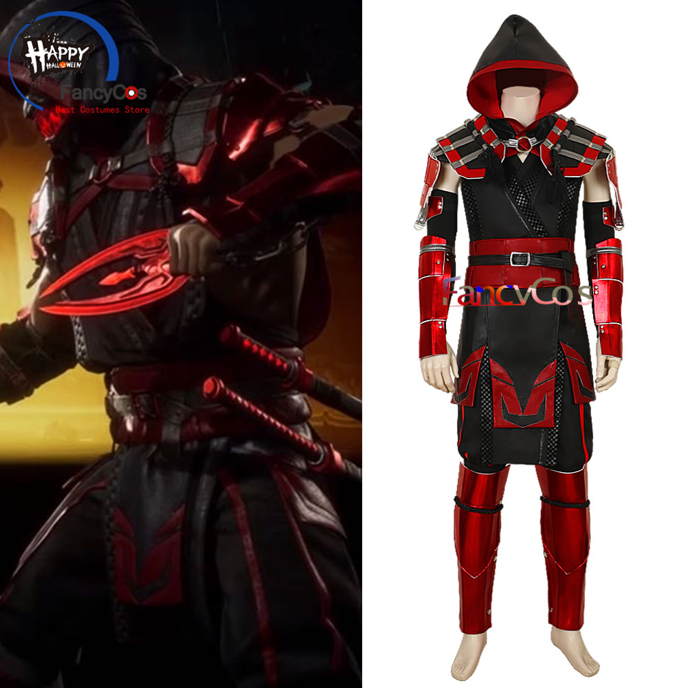2019 Game Mortal Kombat 11 Full Scorpion Man Hanzo Hasashi Mk 11 Red Skin Suit Cosplay Halloween Costume Adult Custom Made Aliexpress