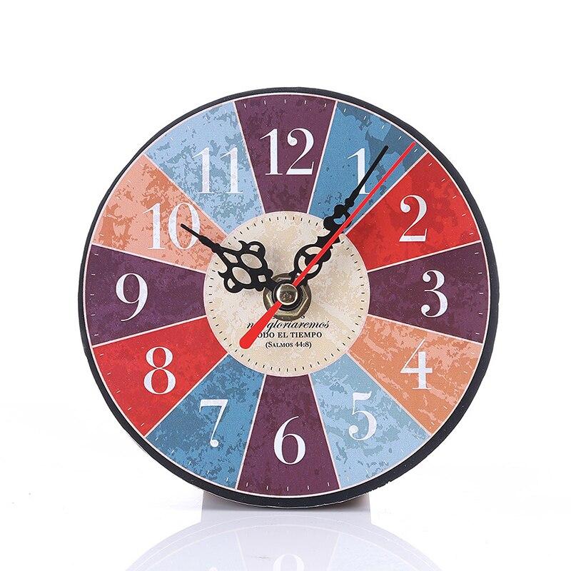12cm European Creative Retro Digital Clock Modern Design Vintage Rustic Shabby Chic Office Cafe Decoration