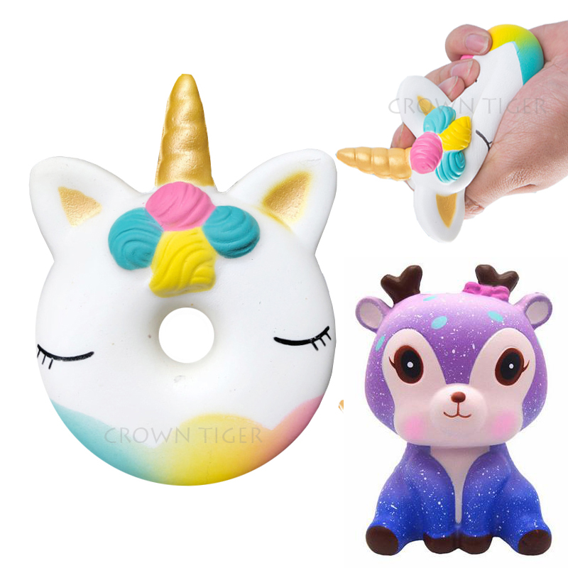 Kawaii 12cm Big Squishy Donut Unicorn Jumbo Squishy Slow Rising Pink Unicorn Doughnut Squeeze Fun Toy For Children Antistress #1