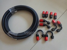 SAE J1532 AN8 Black Nylon Cover Stainless Steel Braided Transmission and Engine Oil Cooler Hose With 8AN Aluminum An Fittings цены онлайн
