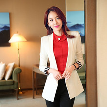 New arrival brand Blazer solid color large size suit coat women Notched collar Hiddedn Breasted female blazer jacket suit TT391