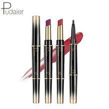 Pudaier Brand 2 In 1 Matte Lip Liner Lipstick Waterproof Long Lasting for Lips Batom Stick make up lipliner