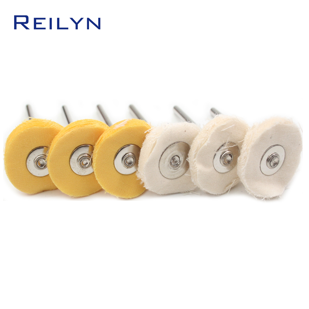 Cloth Polishing Disc Cloth Finishing Mop Rug Wheel Polishing Roller 3mm X 20mm For Electric Grinder/ Rotary Tools