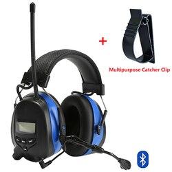 Bluetooth Protezione Dell'udito Cuffie con Microfono Riduzione Del Rumore Elettronico Tattico Otoprotettore AM/FM Radio Cuffie