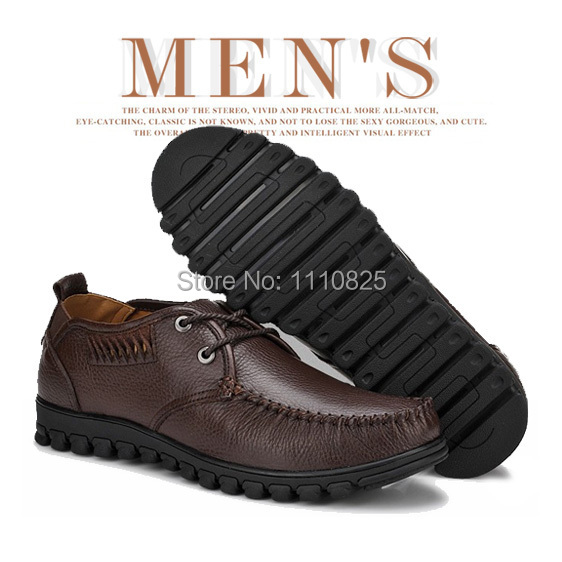 ФОТО Free shipping full leather Business Casual Frenum Men's Flat shoes size:45-50