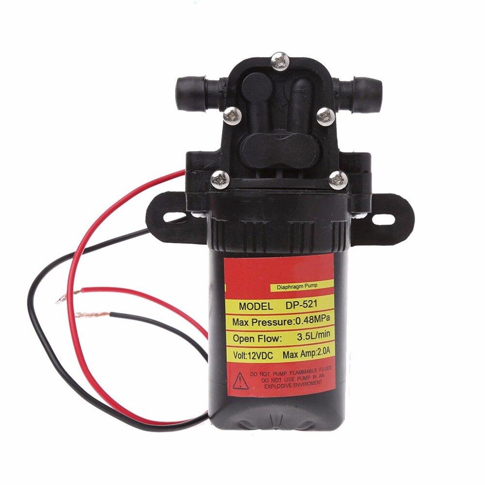 Dc 12 V 3.5l/min 0.48mpa 70 Psi Membran Hohe Druck Selbstansaugende Wasser Pumpe Angemessener Preis Pumpen