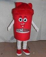 Tazza rossa tazza della mascotte costumi caffè mascotte costume per adulti