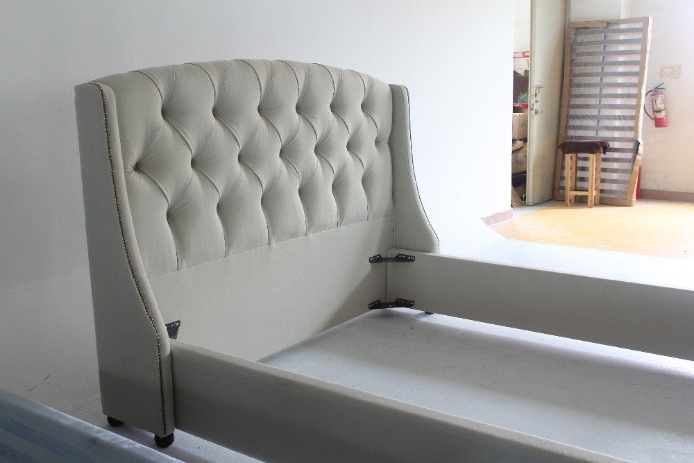 ... Queen Elizabeth Snow Style Fabric Frame Bed Furniture For Fashion ...