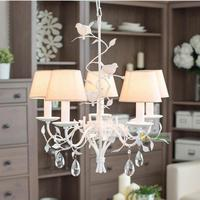Nordic Creative Bird Chandeliers Candle Chandelier Fabric Shade Chandelier Lustre Light Lighting Modern Led Ceiling Lamp