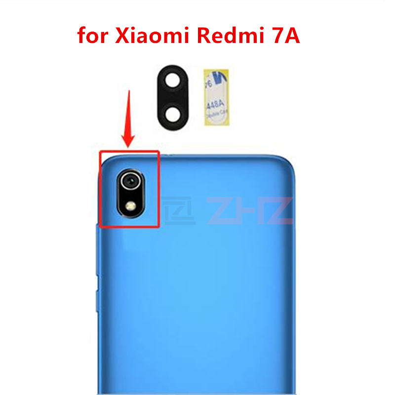 2pcs for Xiaomi Redmi 7A Camera Glass Lens Back Rear Camera Glass Lens Replacement Repair Spare Parts with Glue(China)