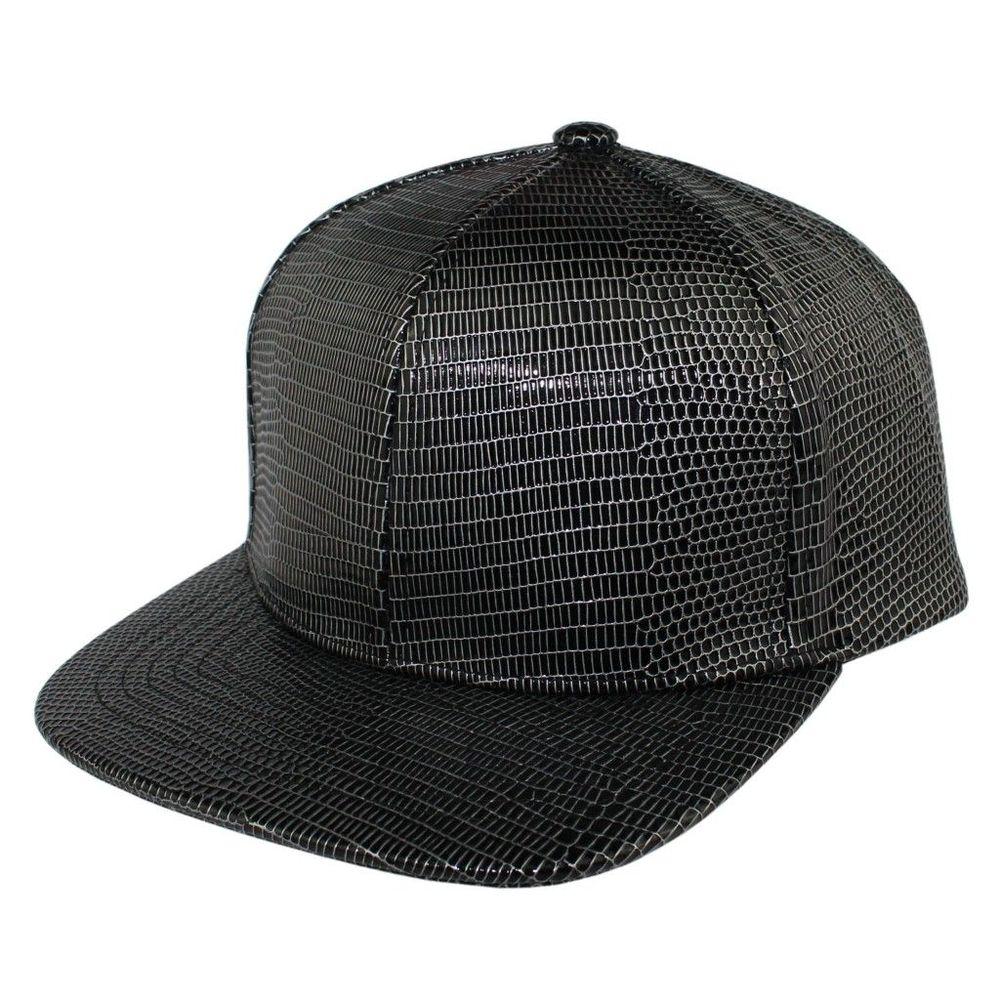 Высокое качество Bboy бейсбольная Кепка snapback шляпу Cabrite кожа Защита от Солнца шляпа летняя мужская и женская Повседневная Уличная Trukfit Шапки Ящерица шаблон - Цвет: Черный