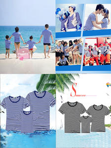 Matching Outfits T-Shirt family Look-Set Summer Dad Son Striped