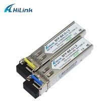 משלוח חינם! 1.25G אחת סיבי LC/SC 1G 1000 בסיס BiDi 1310nm/1550nm 3km/20km WDM SFP מודול