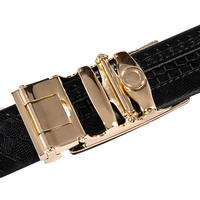 Hi-Tie Brand - Gold Automatic Buckle Genuine Leather Belt 5