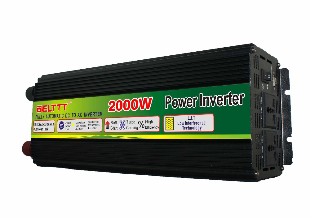 цена на solar power inverter 2000W 12 volt dc 220 volt ac power inverter