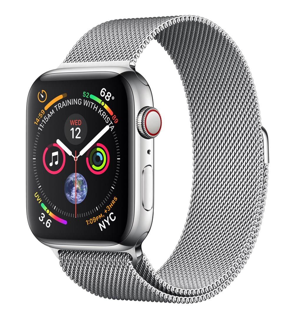 Apple Watch Watch Series 4, OLED, Touchscreen, GPS (satellite), Cellular, 47.9 g, Stainless steelApple Watch Watch Series 4, OLED, Touchscreen, GPS (satellite), Cellular, 47.9 g, Stainless steel