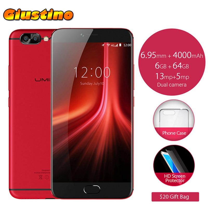 Original Umidigi Z1 Pro Ultra Thin 5.5' FHD Android 7.0 MTK 6757 Octa-core 13MP 6G RAM 64G ROM 5.5'FHD 4000mAh Smartphone