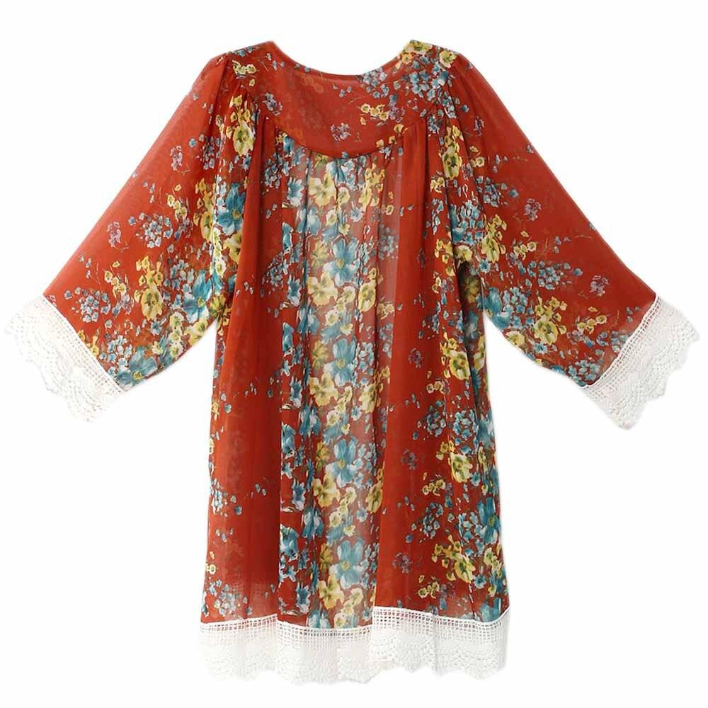 6 colores 2018 nuevo europeo con flecos dobladillo encaje floral - Ropa de mujer - foto 4