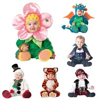 Baby Rompers Newborn Clothes Animal Pirate Dinosaur Sunflower tiger snowman Carnival Christmas Halloween Costume for Kids