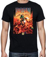 Joke T Shirts Men's Fashion Crew Neck Doom Classic Arcade Console Shooter Game Monsters Sci Fi Mens Black T Shirt Short-Sleeve
