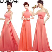 bridemaids dress 2019 plus size women elegant bridesmaid elegant watermelon formal chiffon brides maids ladies dresses 16w