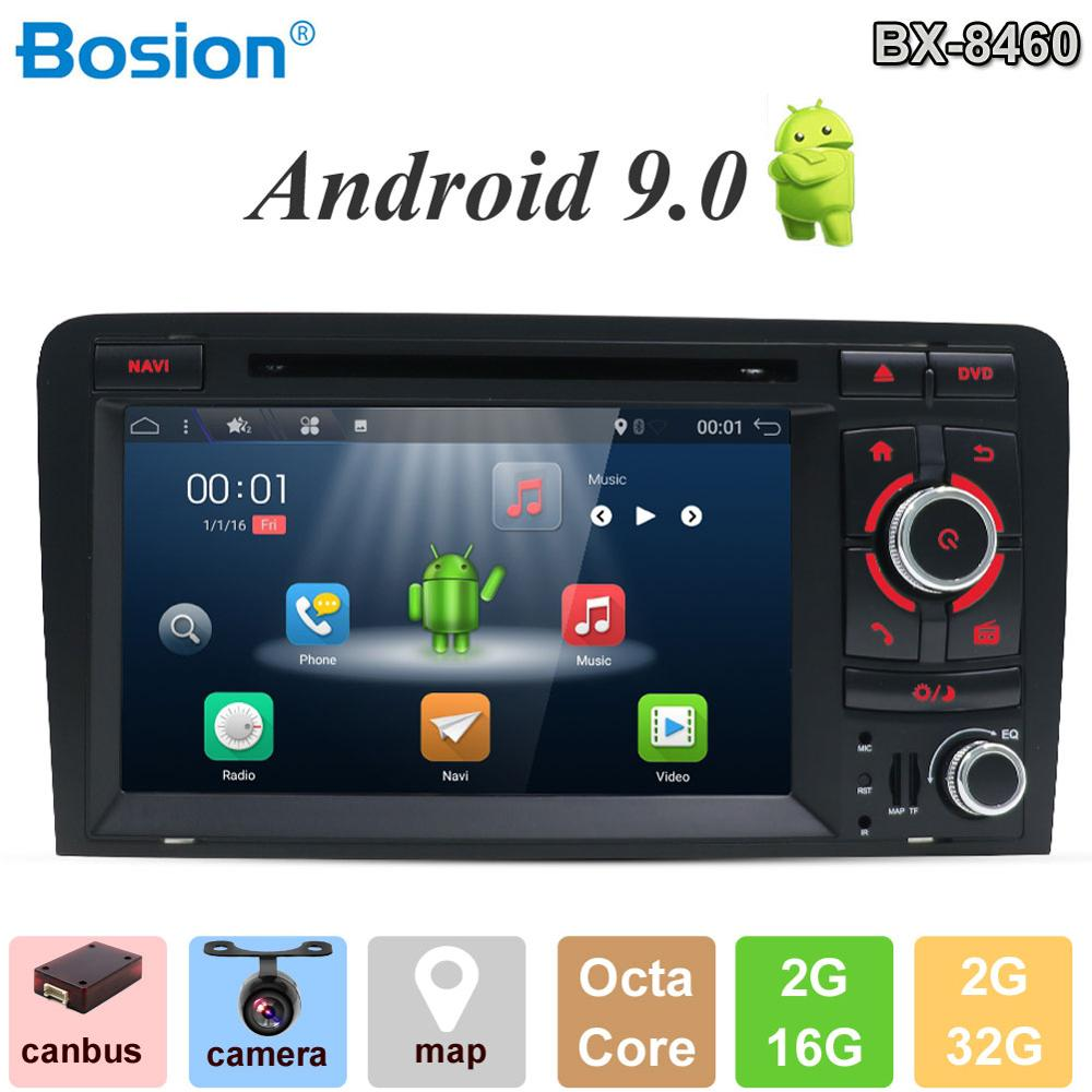 Bosion Android 9.0 CAR DVD GPS For Audi A3 8P 2003-2012 S3 2006-2012 RS3 Sportback 2011 multimedia player stereo radio