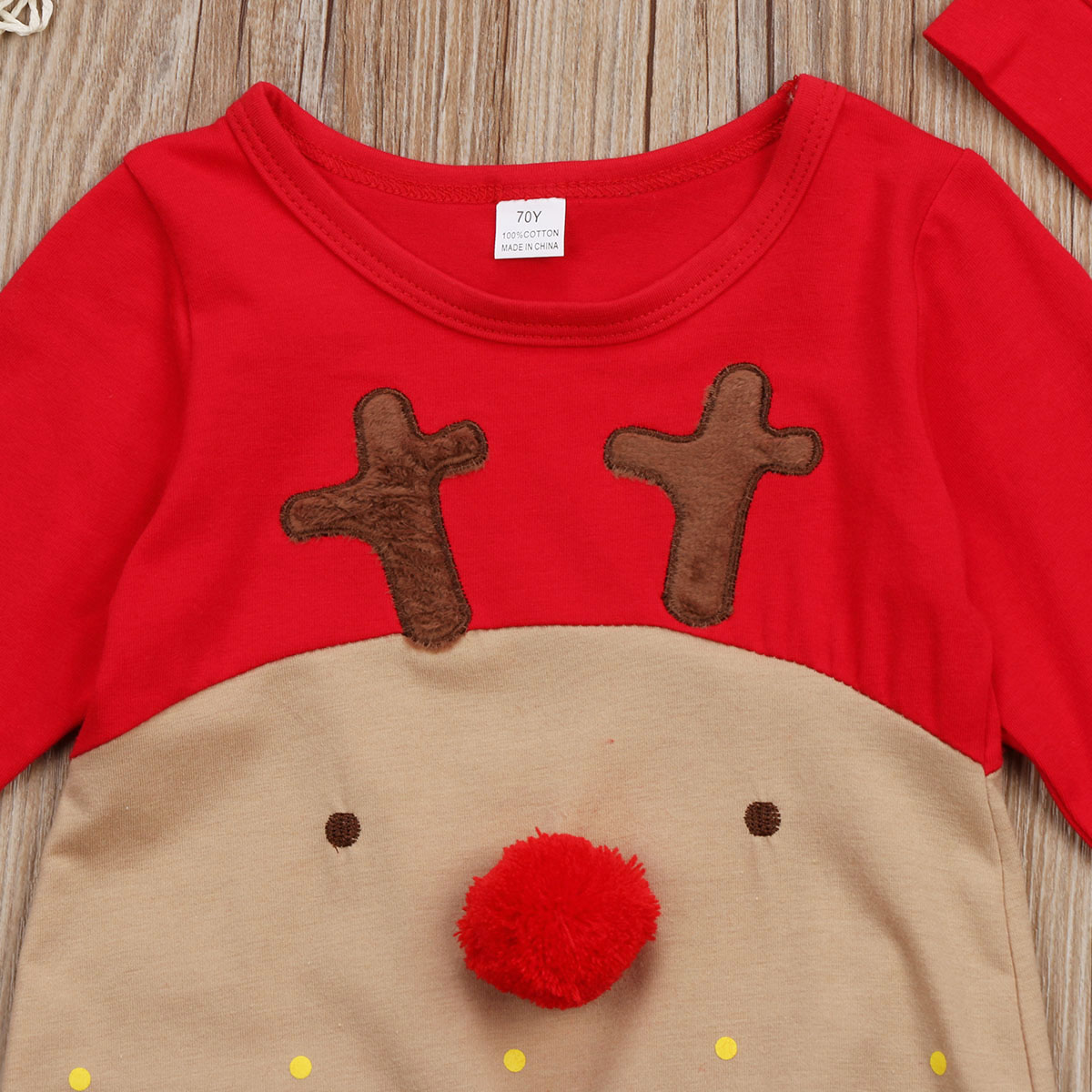 HTB1lcG5ahD1gK0jSZFsq6zldVXaj Emmababy 2Pcs Newborn Baby Boys Girl Christmas Rompers Long Sleeve Deer Romper Jumpsuit Hat Sleepwear Party Costume Baby Clothes
