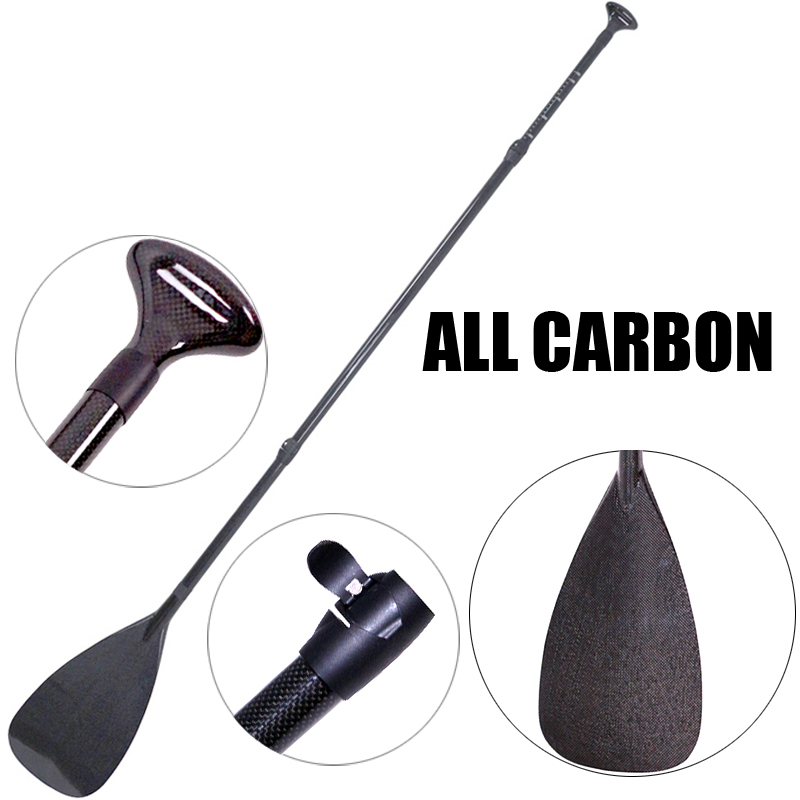light weight carbon paddle fiberglass oar for SUP stand up paddle surf board adjustable extendable 220cm