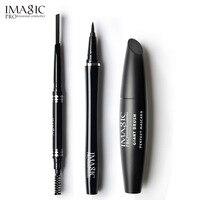 IMAGIC Profession 3Pcs Easy Makeup Pretty Eyes Mascara Black Colors Eyeliner And Automatic Cosmetics Eyebrow