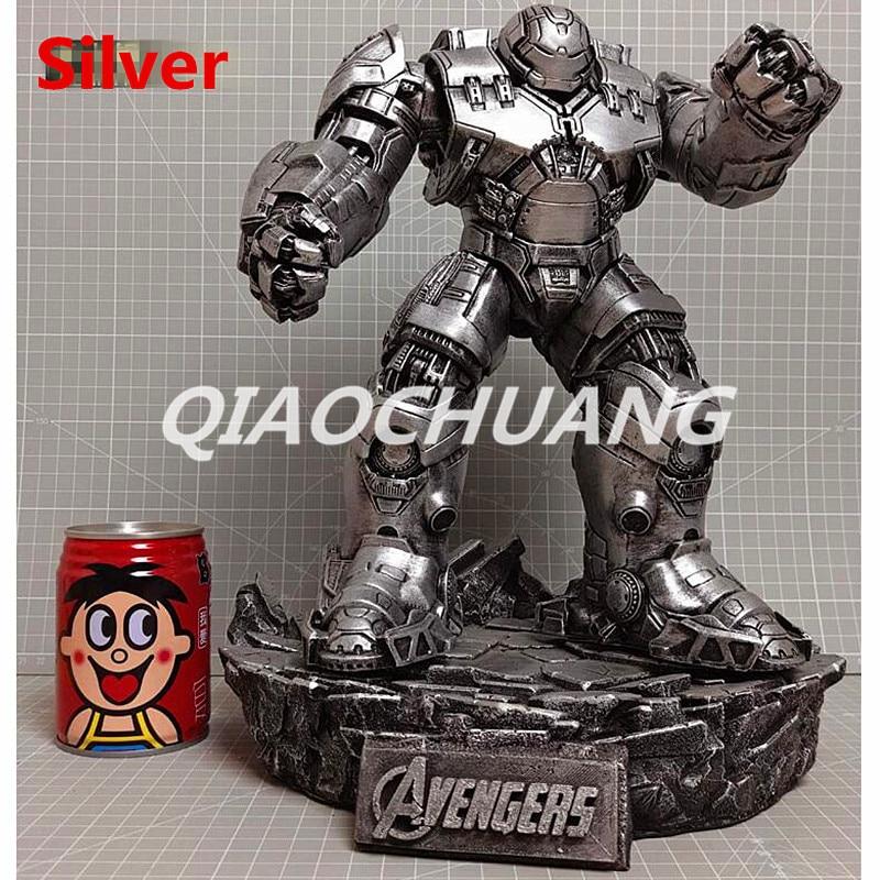 Statue Avengers Superhero Iron Man Tony Stark Bust Hulkbuster MK44 Full Length Portrait Collectible Model Toy RETAIL BOX W212