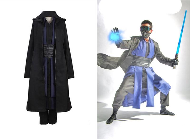 Film star wars Jedi Knight noir costumes Comic Con Darth Maul Charactor Cosplay Chiffons évantail complet avec des gants livraison gratuite