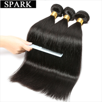 Spark Hair 1 Bundle Brazilian Straight Virgin Hair 8 24inches Natural Color 100 Unprocessed Human Hair
