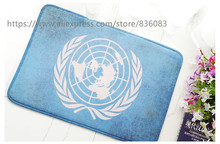 Front door mat bathroom mat/soft warm strong water absorption Restore ancient ways the flag The United Nations carpet