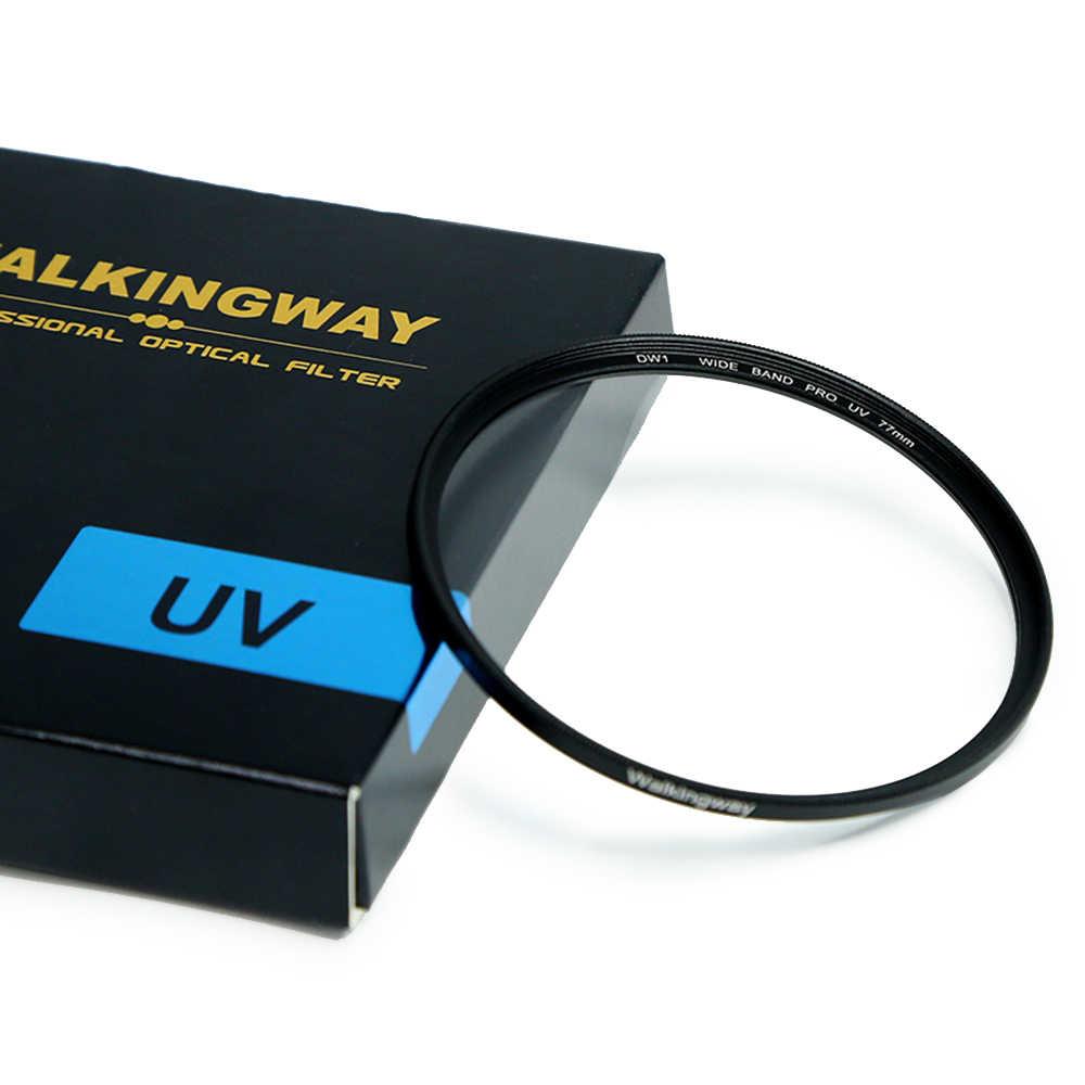 Walkingway UV filtresi 52mm 77mm kamera filtre ultraviyole koruyucu Lens filtre 49 55 58 62 67 72 82 filtre Canon Sony Nikon
