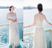 Women Whrite Wedding Party Long Bohemian Dress Vacation Travel Summer Lace Hollow Out Vestidos De Fiesta