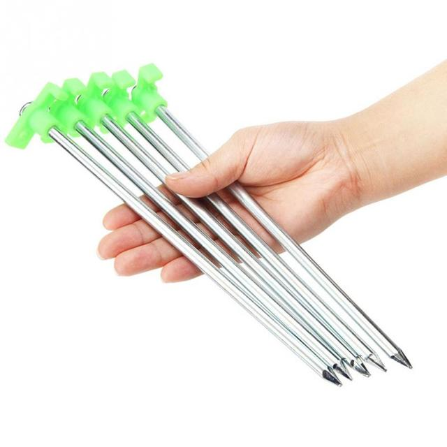 25CM Ultra High-strength stainless steel luminous plastic head Tent Nail Tent Stakes Camping Equipment Tent Peg Tent Building