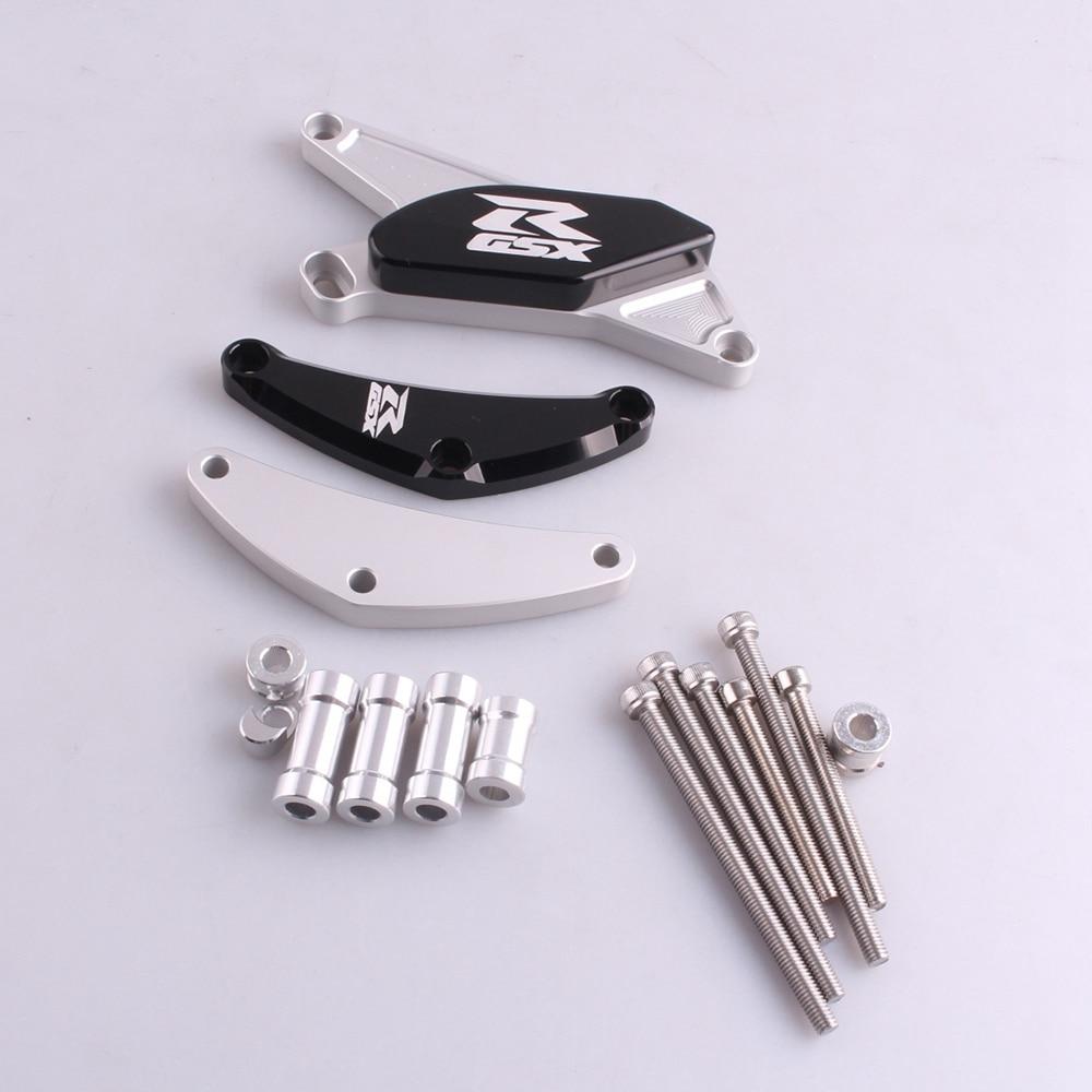 CNC Stator Case Cover Crankcase Slider Crash Guard Protector For Suzuki GSXR 600 750 2006 2007 2008 2009 2010 K6 K8 motorcycle radiator protective cover grill guard grille protector for suzuki gsxr 600 750 2006 2007 2008 2009 2010 2011 2016